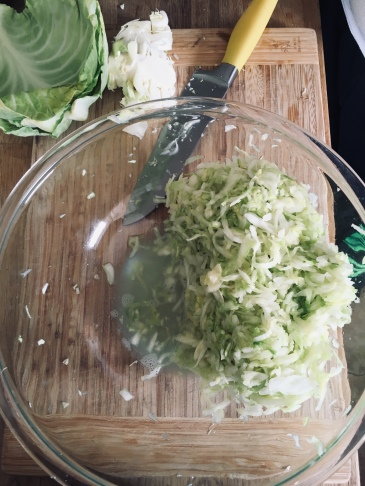 Liquid drawn out of the cabbage